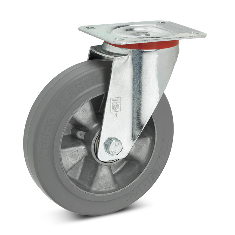 Lenkrad Wicke Premium aus Elastik-Vollgummi, spurlos. Tragkraft 180 - 350 kg