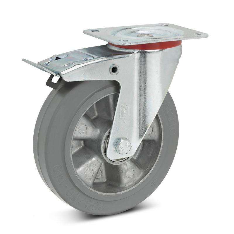 Lenkrad Wicke Premium, Elastik-Vollgummi, spurlos, Feststeller. TK 180-350kg