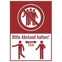 Let op combinatie teken, houd minimaal 1,5 meter afstand!