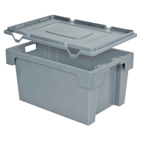 Lid for stacking containers, side walls and base closed/perforated