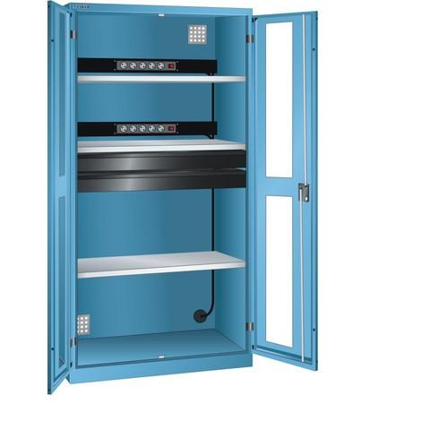 LISTA Akku-Ladeschrank, (BxTxH) 1000x580x1950mm, 2 Energieleisten, 2 Schubladen