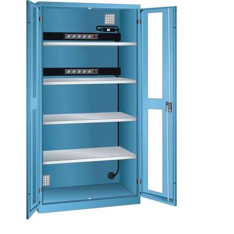 LISTA Akku-Ladeschrank, (BxTxH) 1000x580x1950mm, 2 Energieleisten Rückwand, FI/LS