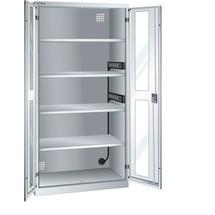 LISTA Akku-Ladeschrank, (BxTxH) 1000x580x1950mm, 2 Energieleisten Seitenwand, Sichtfenster
