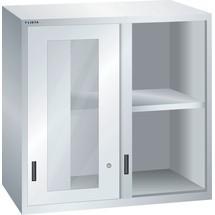 LISTA Aufsatzschrank mit Schiebetüren 54x36E, (BxTxH) 1023x725x1000mm, Sichtfenster