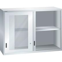 LISTA Aufsatzschrank mit Schiebetüren 78x27E, (BxTxH) 1431x572x1000mm, Sichtfenster