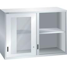 LISTA Aufsatzschrank mit Schiebetüren 78x36E, (BxTxH) 1431x725x1000mm, Sichtfenster
