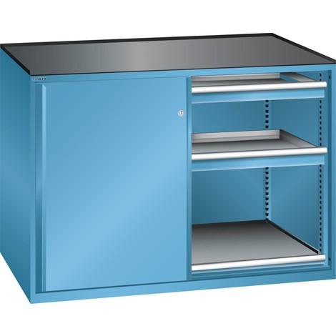 LISTA Beistellschrank 2x36x27E, (BxTxH) 1430x600x1020mm, 2 Auszugböden, 4 Schubladen