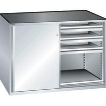 LISTA Beistellschrank 2x36x27E, (BxTxH) 1430x600x1020mm, 2 Auszugböden, 6 Schubladen