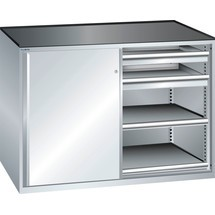 LISTA Beistellschrank 2x36x27E, (BxTxH) 1430x600x1020mm, 4 Auszugböden, 4 Schubladen