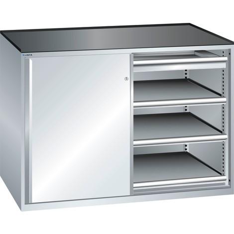 LISTA Beistellschrank 2x36x27E, (BxTxH) 1430x600x1020mm, 6 Auszugböden, 2 Schubladen
