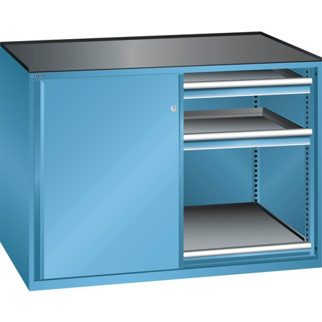 LISTA Beistellschrank 2x36x36E, (BxTxH) 1430x753x1020mm, 2 Auszugböden, 4 Schubladen