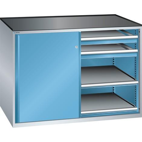 LISTA Beistellschrank 2x36x36E, (BxTxH) 1430x753x1020mm, 4 Auszugböden, 4 Schubladen 75kg