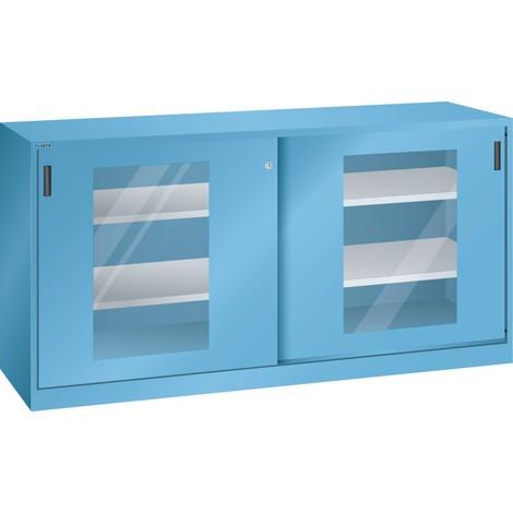 LISTA Beistellschrank mit Schiebetüren, (BxH) 2000x1000mm, 4 Verstellböden, Sichtfenster
