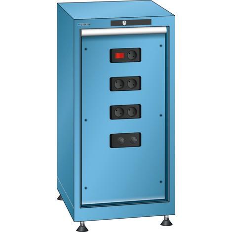LISTA Energiemodulschrank 18x36E, (BxTxH) 411x725x850mm, Typ D/Schuko