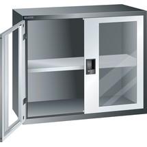 LISTA Hängeschrank mit Flügeltüren, (BxH) 1000x800mm, Sichtfenster