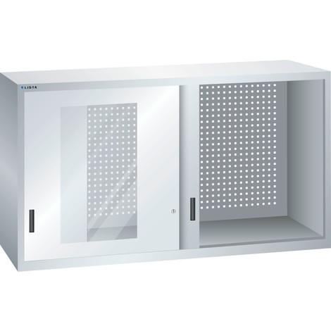 LISTA Hängeschrank mit Schiebetüren, (TxH) 300x800mm, Sichtfenster