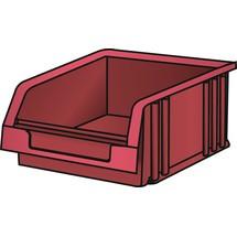 LISTA Lagersichtbehälter, (BxTxH) 101x90x50mm, Größe 2
