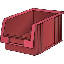 LISTA Lagersichtbehälter, (BxTxH) 101x90x50mm, Größe 4