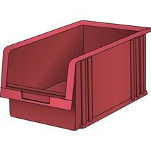 LISTA Lagersichtbehälter, (BxTxH) 101x90x50mm, Größe 5