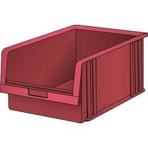 LISTA Lagersichtbehälter, (BxTxH) 101x90x50mm, Größe 6