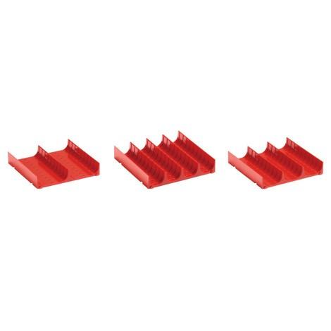 LISTA Muldenteile 9x9E, (BxTxH) 150x150x26mm, 6 Stück