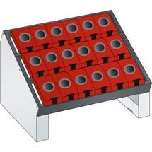 LISTA NC-Tischständer 36x27E, (BxTxH) 588x413x345mm, HSK 63/80, 18 Halter
