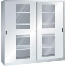 LISTA Schiebetürschrank, (BxTxH) 2000x400x1950mm, 8 Verstellböden, Sichtfenster