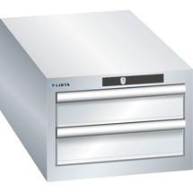 LISTA Schubladenschrank 18x36E, (BxTxH) 411x725x283mm, 2 Schubladen, 2 x 100
