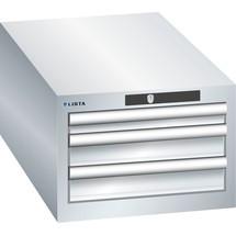 LISTA Schubladenschrank 18x36E, (BxTxH) 411x725x283mm, 3 Schubladen, 1 x 50 / 2 x 75