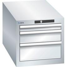 LISTA Schubladenschrank 18x36E, (BxTxH) 411x725x383mm, 3 Schubladen, 1 x 50 / 1 x 100 / 1 x 150