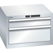 LISTA Schubladenschrank 27x27E, (BxTxH) 564x572x383mm, 2 Schubladen, 1 x 100 / 1 x 200