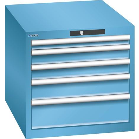 LISTA Schubladenschrank 27x36E, (BxTxH) 564x725x533mm, 5 Schubladen, Fronthöhen 50-150mm