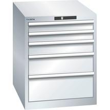 LISTA Schubladenschrank 27x36E, (BxTxH) 564x725x700mm, 5 Schubladen, Fronthöhen 75-200mm