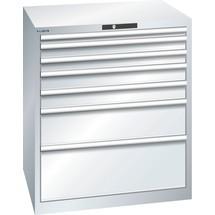 LISTA Schubladenschrank 45x36E, (BxTxH) 870x725x1000mm, 7 Schubladen, Fronthöhen 50-300mm
