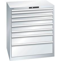 LISTA Schubladenschrank 45x36E, (BxTxH) 870x725x1000mm, 8 Schubladen, Fronthöhen 50-250mm