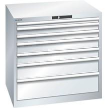 LISTA Schubladenschrank 45x36E, (BxTxH) 870x725x850mm, 7 Schubladen, Fronthöhen 50-200mm