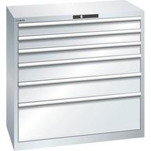 LISTA Schubladenschrank 54x27E, (BxTxH) 1023x572x1000mm, 6 Schubladen, 3 x 100 / 2 x 150 / 1 x 300