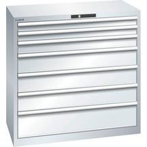 LISTA Schubladenschrank 54x27E, (BxTxH) 1023x572x1000mm, 7 Schubladen, Fronthöhen 75-200mm