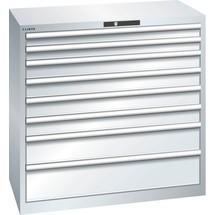 LISTA Schubladenschrank 54x27E, (BxTxH) 1023x572x1000mm, 8 Schubladen, Fronthöhen 75-200mm