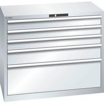 LISTA Schubladenschrank 54x27E, (BxTxH) 1023x572x850mm, 5 Schubladen TK 200kg