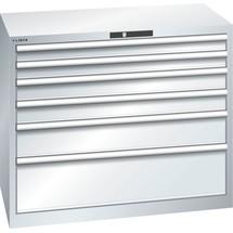 LISTA Schubladenschrank 54x27E, (BxTxH) 1023x572x850mm, 6 Schubladen, Fronthöhen 75-250mm