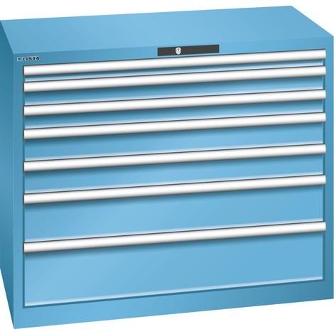 LISTA Schubladenschrank 54x27E, (BxTxH) 1023x572x850mm, 7 Schubladen, Fronthöhen 50-200mm