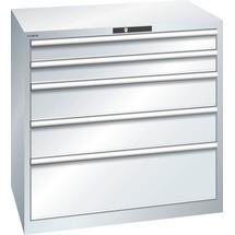 LISTA Schubladenschrank 54x36E, (BxTxH) 1023x725x1000mm, 5 Schubladen, 2 x 100 / 2 x 200 / 1 x 300