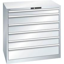 LISTA Schubladenschrank 54x36E, (BxTxH) 1023x725x1000mm, 6 Schubladen, 1 x 100 / 4 x 150 / 1 x 200