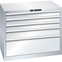 LISTA Schubladenschrank 54x36E, (BxTxH) 1023x725x850mm, 5 Schubladen TK 200kg