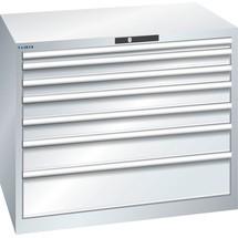 LISTA Schubladenschrank 54x36E, (BxTxH) 1023x725x850mm, 7 Schubladen, Fronthöhen 50-200mm