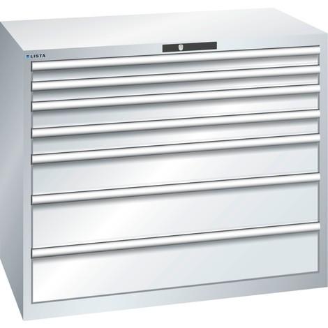 LISTA Schubladenschrank 64x36E, (BxTxH) 1193x725x1000mm, 7 Schubladen, Fronthöhen 75-200mm