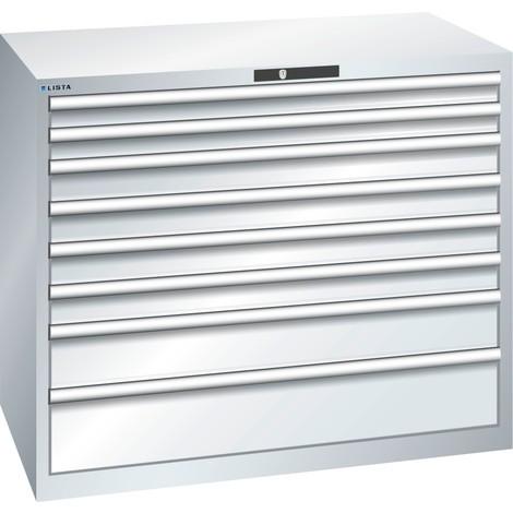LISTA Schubladenschrank 64x36E, (BxTxH) 1193x725x1000mm, 8 Schubladen, Fronthöhen 75-200mm
