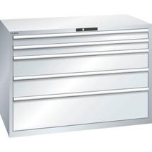 LISTA Schubladenschrank 78x36E, (BxTxH) 1431x725x1000mm, 5 Schubladen, 2 x 100 / 2 x 200 / 1 x 300