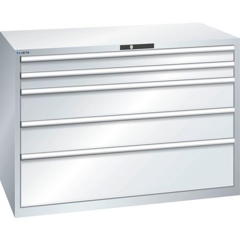 LISTA Schubladenschrank 78x36E, (BxTxH) 1431x725x1000mm, 5 Schubladen TK 200kg